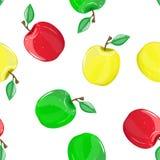 Безшовная картина с яблоками Стоковое фото RF