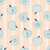 Безшовная картина с яблоками Стоковое Изображение RF