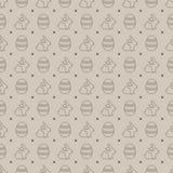 Безшовная картина с яичками и кроликами Стоковое Фото