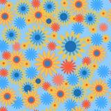 Безшовная картина с яркими цветами иллюстрация вектора