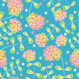 Безшовная картина с яркими цветками Стоковое фото RF