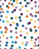 Безшовная картина с confetti стоковое изображение