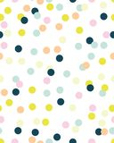 Безшовная картина с confetti стоковое фото rf