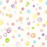 Безшовная картина с doodle ручки войлок-подсказки Стоковое Фото