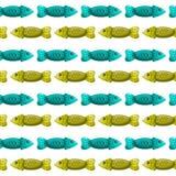 Безшовная картина с fish-2 иллюстрация вектора