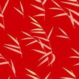 Безшовная картина с Reed на красном цвете Стоковые Фото
