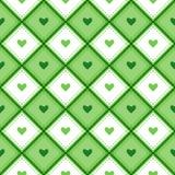 Безшовная картина с rhombs и сердцами Стоковые Изображения