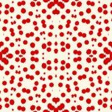 Безшовная картина с stylezed красными пятнами чернил Бумага идеи проекта хеллоуина цифровая, печать ткани, заполнение страницы Стоковое фото RF