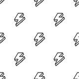 Безшовная картина с thunderbolts в шуточном стиле Стоковая Фотография