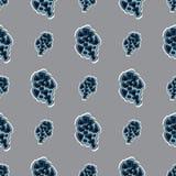 Безшовная картина текстуры с конусом и нашивками ели Использованный как фон, безшовная текстура Стоковое Изображение