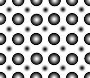 Безшовная картина точек черноты градиента Стоковая Фотография