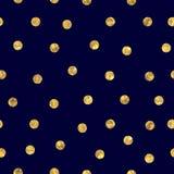 Безшовная картина точки польки золотая Стоковые Изображения
