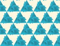 Безшовная картина треугольника, вихрь бесплатная иллюстрация