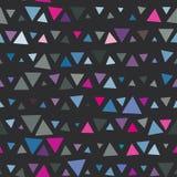 Безшовная картина треугольников, пинка и сини дальше Стоковые Фотографии RF