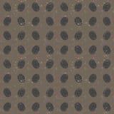 Безшовная картина фингерпринтов, серая текстура Стоковые Фотографии RF