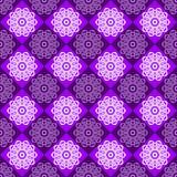 Безшовная картина фиолетовых и розовых косоугольников Стоковое фото RF