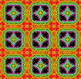 Безшовная картина фрактали с звезды в яркие цвета Стоковое Изображение RF