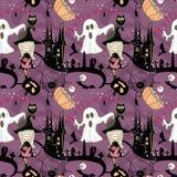 Безшовная картина хеллоуина Стоковые Изображения RF