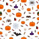 Безшовная картина хеллоуин Стоковая Фотография