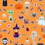 Безшовная картина хеллоуин Стоковая Фотография RF