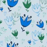 Безшовная картина цвета цветков светлого grayish голубого стоковая фотография rf