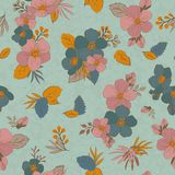 Безшовная картина цветет для ваших дизайна и украшения Винтаж Стоковые Фото