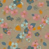 Безшовная картина цветет для ваших дизайна и украшения Винтаж Стоковые Изображения RF