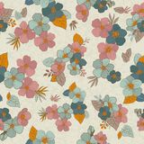 Безшовная картина цветет для ваших дизайна и украшения Винтаж Стоковая Фотография RF
