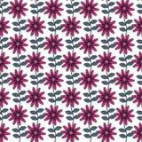 Безшовная картина цветка вектора в стиле народного искусства бесплатная иллюстрация