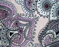 Безшовная картина цветка на ткани Стоковые Изображения RF