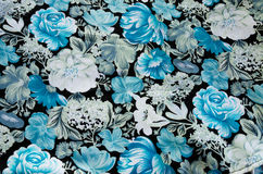 Безшовная картина цветка на ткани Стоковое Фото