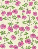 Безшовная картина цветка Стоковое Изображение RF