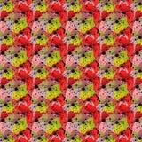 Безшовная картина цветков 3 видов иллюстрация штока