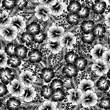 Безшовная картина цветков гибискуса бесплатная иллюстрация