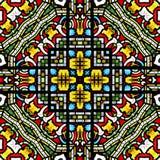 Безшовная картина цветного стекла иллюстрация штока