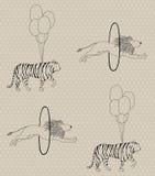 безшовная картина цирка Стоковая Фотография RF