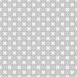 Безшовная картина, черно-белые абстрактные геометрические концентрические восьмиугольники Стоковое Изображение RF