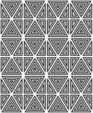 Безшовная картина черно-белых диаграмм Стоковая Фотография