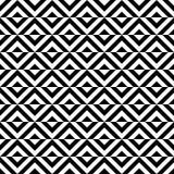 Безшовная картина черно-белых косоугольников Стоковое фото RF