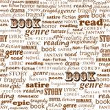 Безшовная картина чтения Стоковые Изображения RF
