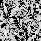 Безшовная картина шнурка цветка Стоковое Изображение RF