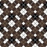 Безшовная картина шотландки тартана Традиционная checkered текстура ткани в палитре коричневого, черно-белой 10 eps бесплатная иллюстрация