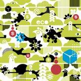 Безшовная картина экологической предпосылки. иллюстрация штока