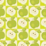 Безшовная картина яблока Стоковое Фото