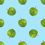 Безшовная картина яблоки Стоковое Фото