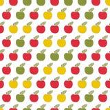 Безшовная картина, яблоки applique, виновность, scrapbook Стоковые Изображения RF