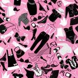 Безшовная картина для дизайна моды - силуэты  Стоковые Фотографии RF