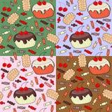 Безшовная картина confection Стоковое Изображение RF