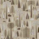 Безшовная картина coniferous леса бесплатная иллюстрация
