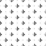 безшовная картина Fleur-de-lis также вектор иллюстрации притяжки corel Черный белый шаблон смогите различная флористическая испол иллюстрация штока